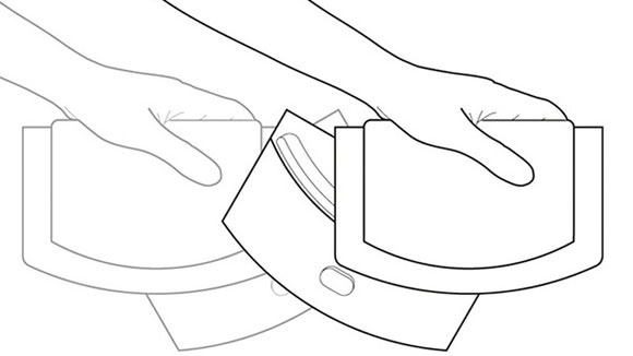 sliding chopping knife instructions