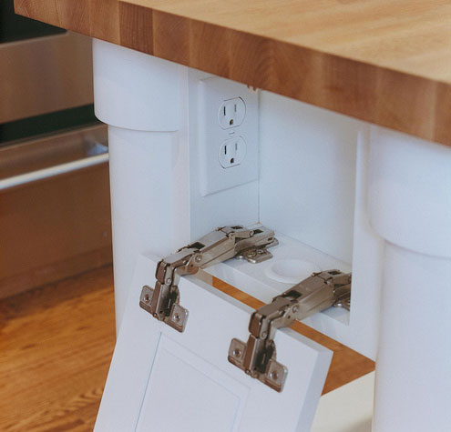 power outlet in drawer
