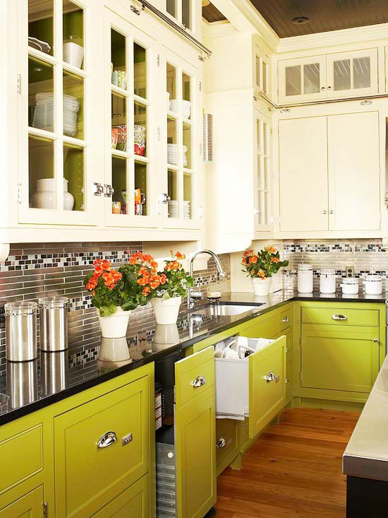 light green kitchen