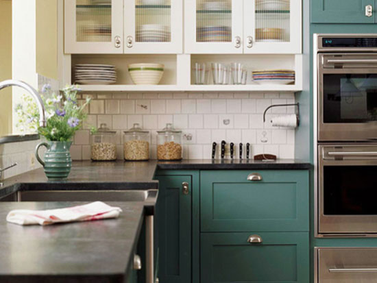 tursquoise kitchen paint color