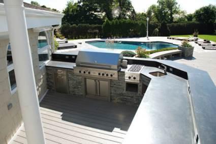 viking kitchen outdoor near pool