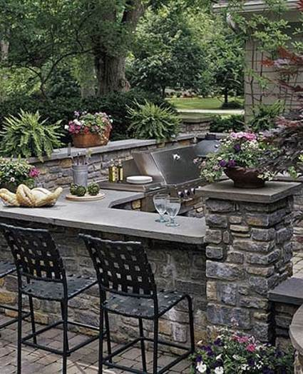stone kitchen outdoors