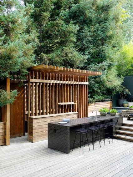 modern open air kitchen in LA