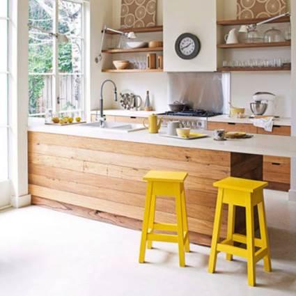 trendy wooden kitchen
