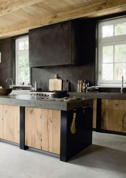 rustic wooden kitchen design
