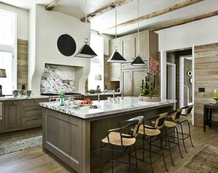 contemporary kitchen design with wood