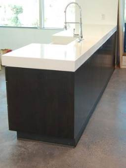 a white concrete countertop