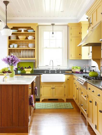 subtle yellow kitchen color