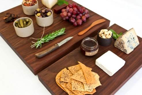 black walnut wooden cutting board by hudson made