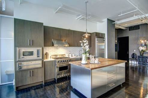 hollywood loft kitchen