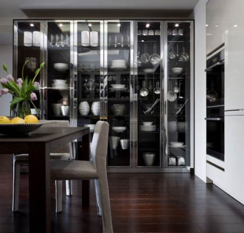 gorgeous glass cabinet / pantry
