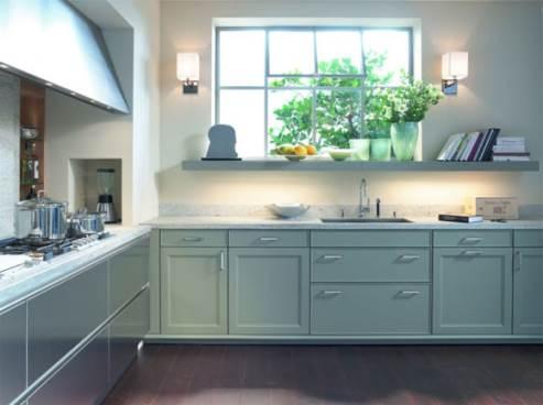 subtle green kitchen color