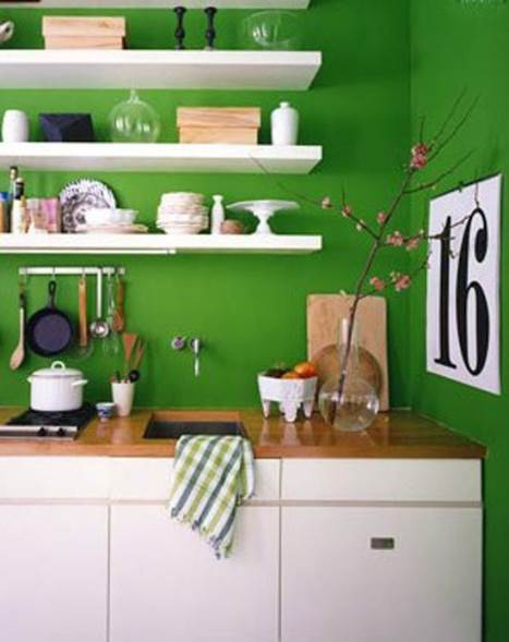 gorgeous green kitchen