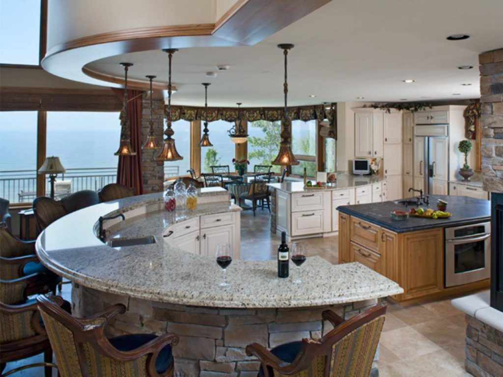 Handcrafted Stone Top Kitchen Island The Kitchen Times