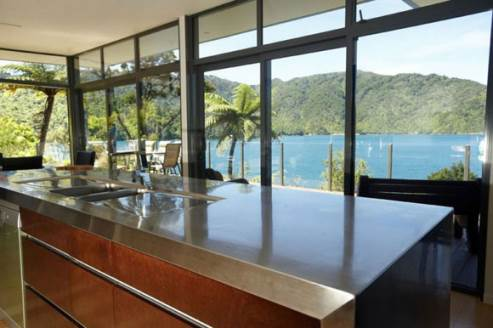 kitchen with a gorgeous view