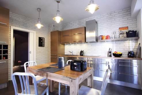 cozy apartment kitchen