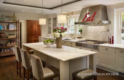 traditional kitchen with lovely backsplash tiles