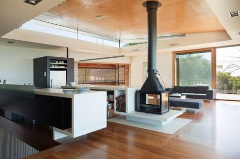 beautiful wood-burning stove