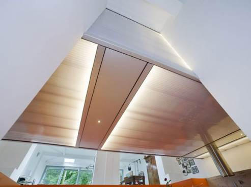 lighting is incorporated in the ceiling