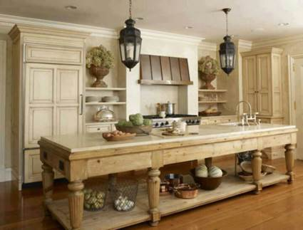 big farmhouse kitchen table