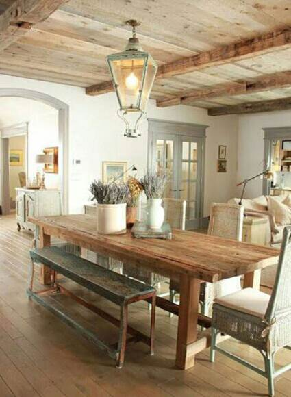 gorgeous wooden dining table