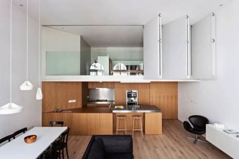 kitchen with mezzanine