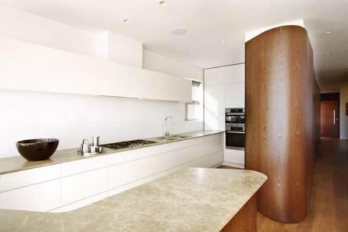 kitchen design wood glossy white
