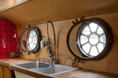 portholes of the barge