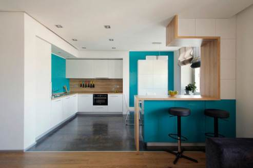 cyan kitchen design