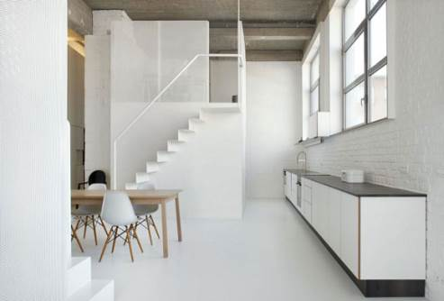 minimalist loft kitchen