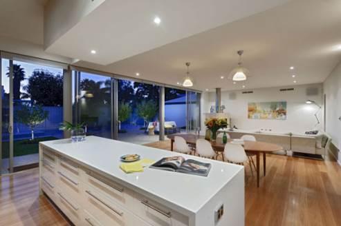 two tone kitchen design