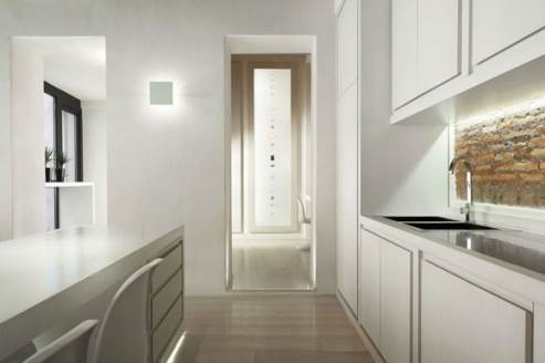 all white kitchen by Carola Vannini