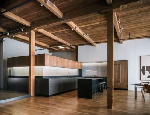 dark kitchen by lineoffice