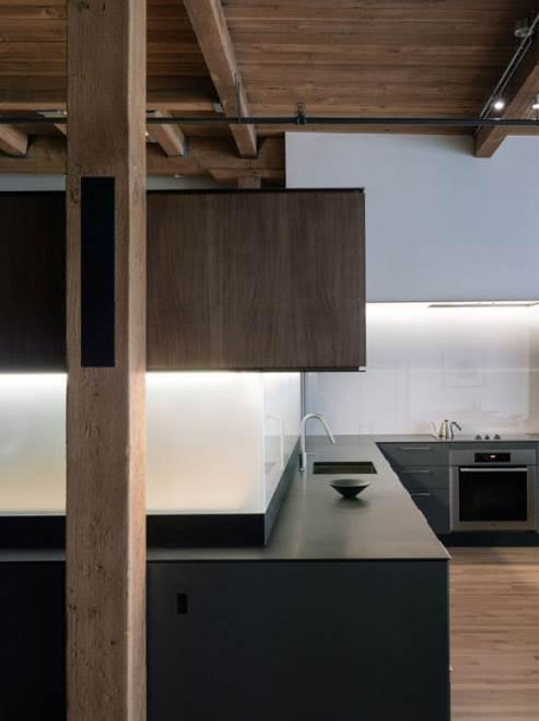 black kitchen design
