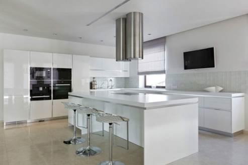 glossy white kitchen design