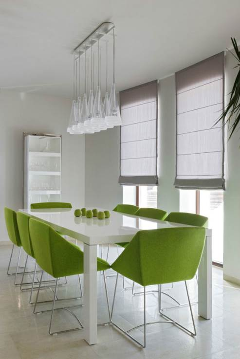 lovely bright green chairs