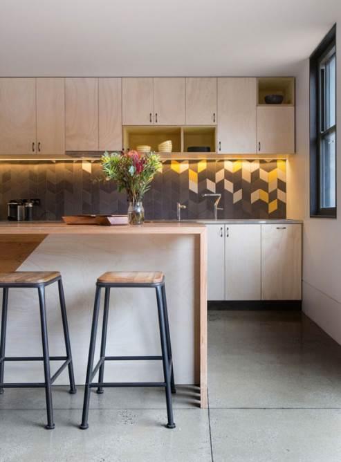 unique yellow kitchen tiles