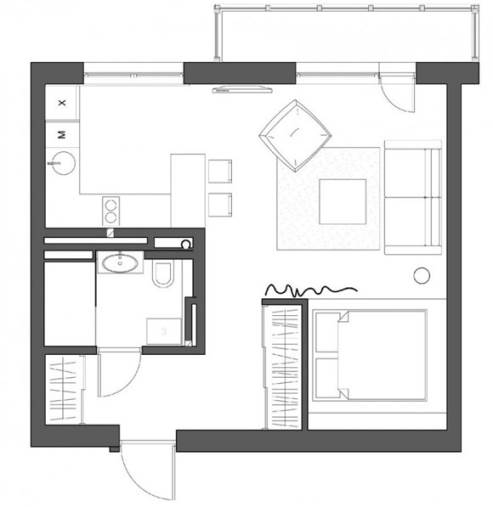 small kitchen floor plan