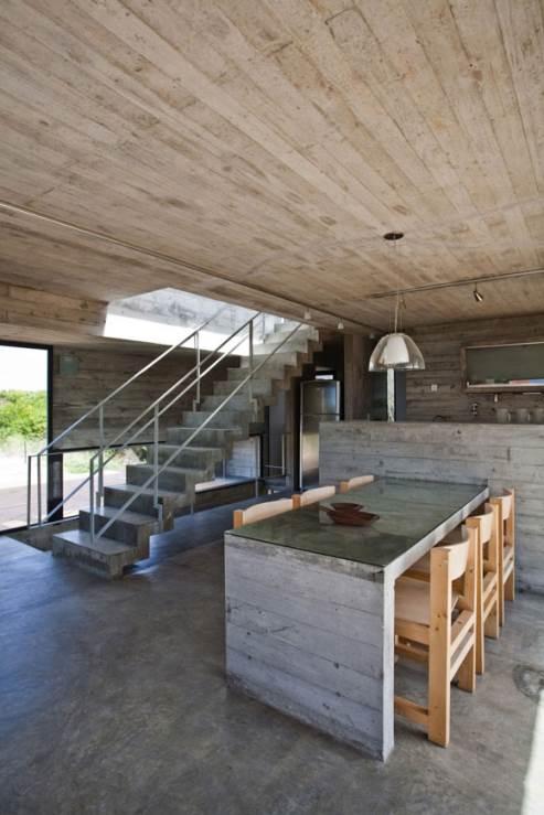 beach house kitchen by bak architects