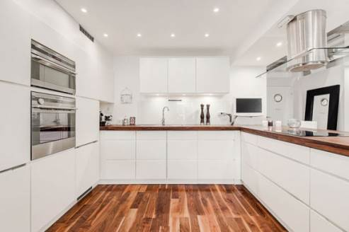 white open kitchen design