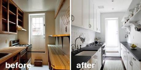 before and after kitchen cabinet doors replacement