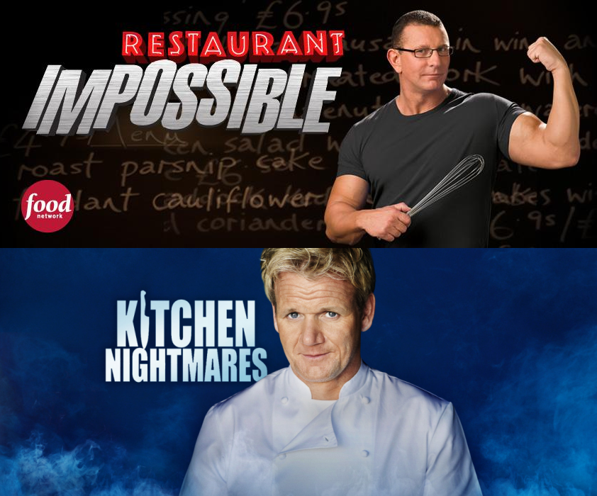 Image result for Kitchen Nightmares vs. Restaurant: Impossible